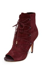 Sam Edelman Asher Open Toe Booties Port Wine