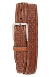 Johnston And Murphy Woven Leather Belt Tan