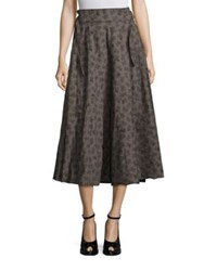 Bottega Veneta Butterfly Printed Skirt Grey Print