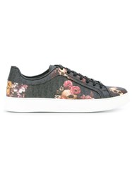 Christian Dior Homme Floral Print Trainers Black