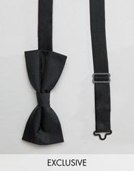 Noose And Monkey Poly Bow Tie Black
