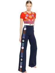 Peter Pilotto Embroidered Crepe Jumpsuit