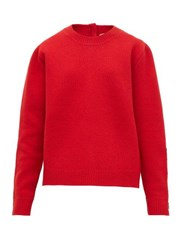 N 21 No. Crystal Embellished Wool Blend Sweater Red