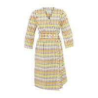 Baum Und Pferdgarten Abylene Long Dress Peach Yellow Black Check