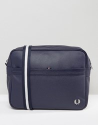 Fred Perry Scotch Grain Messenger Bag In Navy Navy
