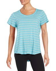 Marc New York Striped Tee Blue
