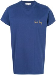 Maison Labiche Classic Fitted T Shirt Cotton L Blue