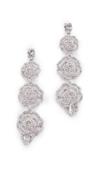 Kate Spade Crystal Rose Linear Earrings Clear Silver