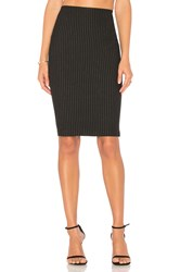 Bailey 44 Striped Resplendent Pencil Skirt Black