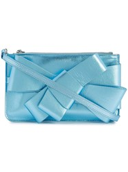 Delpozo Bow Embellished Mini Bag Blue