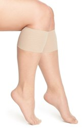 Plus Size Women's Berkshire Sheer Knee Highs Beige Nude