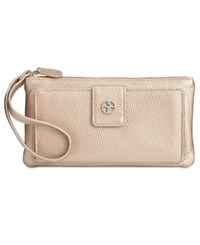 Giani Bernini Softy Grab And Go Leather Wallet And Wristlet Only At Macy's Metallic Gold