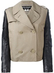 Comme Des Garcons Junya Watanabe Double Breasted Coat Nude Neutrals