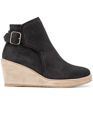 A.P.C. Wedged Ankle Boots Black