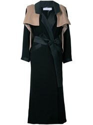 Bintthani Fixed Vest Trench Coat Women Satin Ribbon M Black