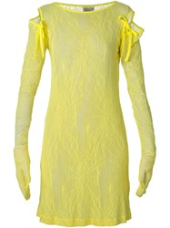 Walter Van Beirendonck Vintage 'Fetish For Beauty' Lace Dress Yellow And Orange