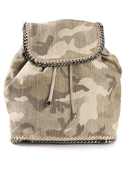Stella Mccartney 'Falabella' Camouflage Backpack Nude And Neutrals
