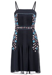Frock And Frill Cocktail Dress Party Dress Navy Dark Blue