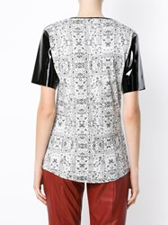 Tufi Duek Printed Panelled T Shirt White