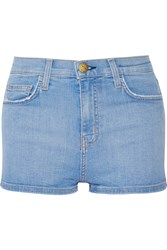 Current Elliott The High Waist Denim Shorts Blue
