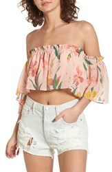 Privacy Please Women's Parsons Off The Shoulder Crop Top Ballet