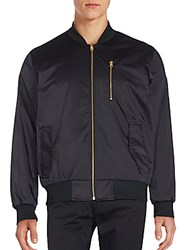 Karl Lagerfeld Reversible Zip Up Jacket Black