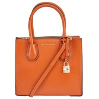 Michael Michael Kors Mercer Leather Messenger Bag Orange