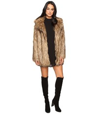 Show Me Your Mumu Ivanka Jacket Bear Hug Faux Fur Women's Coat Gold