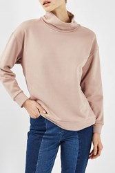 Topshop Funnel Sweat By Boutique Blush