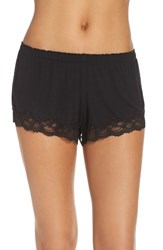 Flora Nikrooz Women's Snuggle Lounge Boyshorts Black