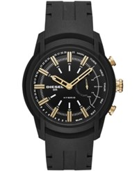 Diesel On Armbar Black Silicone Strap Hybrid Smart Watch 44Mm No Color