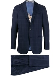 Etro Check Print Fitted Suit 60