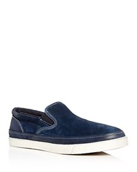 John Varvatos Star Usa Men's Jet Suede Slip On Sneakers Midnight