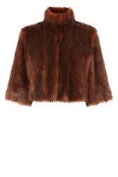 Coast Sadah Faux Fur Cover Up Tan