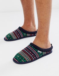 Dunlop Fairisle Slipper In Multi