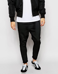 Asos Spray On Drop Crotch Jeans Black