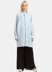 Acne Studios Siva Linen Soft Pop Shirt Dress Black