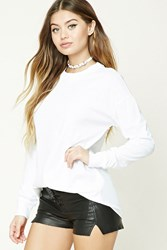 Forever 21 Cotton Dropped Sleeve Tee