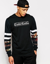 Crooks And Castles Ancient Text Long Sleeve T Shirt Black