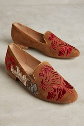 Anthropologie Olympia Smoking Slippers Honey