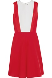 Jonathan Saunders Trinity Satin Trimmed Crepe Dress
