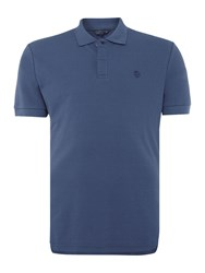 Perry Ellis Men's America Archive Fit Short Sleeve Polo Shirt Indigo