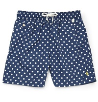 Polo Ralph Lauren Mid Length Polka Dot Swim Shorts Blue