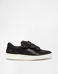 Ymc Leather Strap Trainers Black