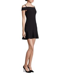 Abs By Allen Schwartz Scuba Cold Shoulder Dress Black