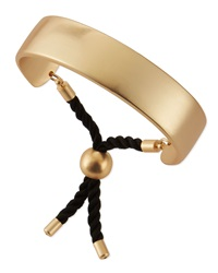 Jules Smith Designs Jules Smith Wide Matte Golden Bar And Rope Cuff