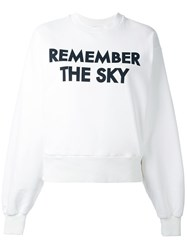 Each X Other 'Robert Montgomery Remember The Sky' Sweatshirt White