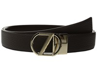 Z Zegna Adjustable Reversible Bcrgm5 35Mm Belt Black Dark Brown Men's Belts