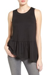 Gibson Women's Asymmetrical Ruffle Hem Top
