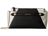 Calvin Klein Saffiano Clutch Black White Clutch Handbags
